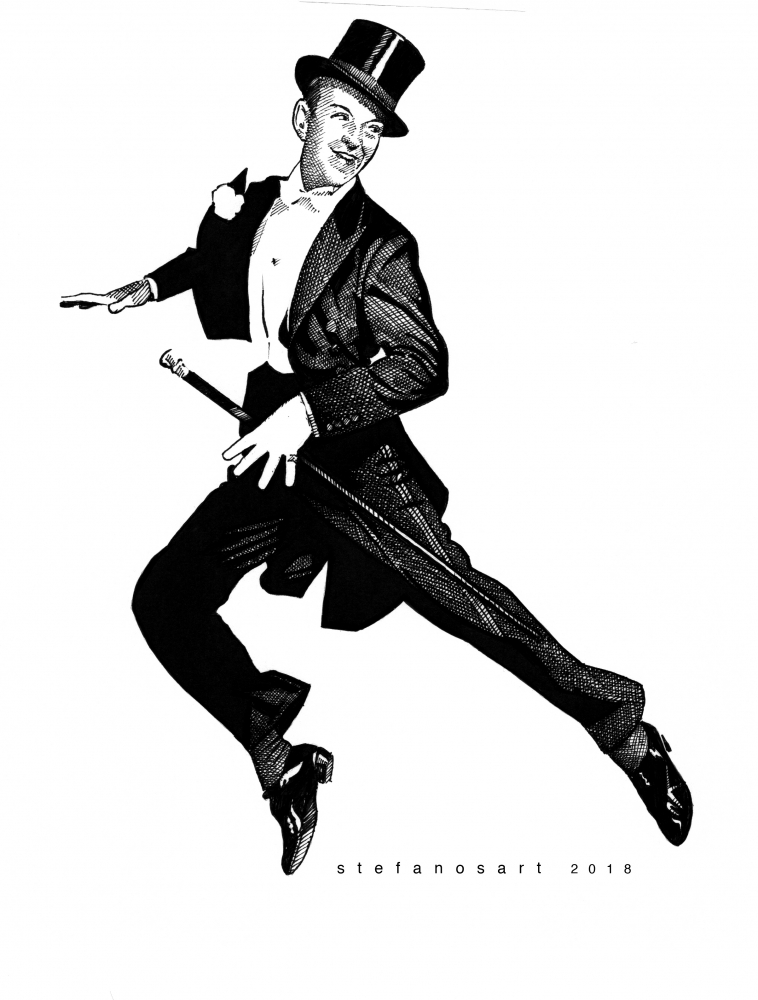 Fred Astaire by Stefanosart